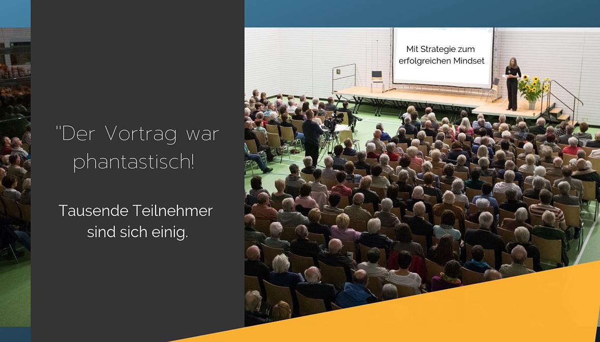 Begeisterte Teilnehmer der Vorträge geben Ihre Meinung kund. Business Neuroscience. Dr. Elke Präg