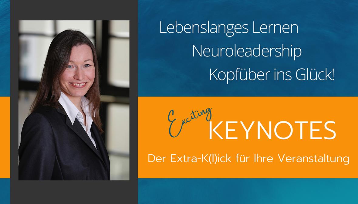 Keynotes der Expertin. Der Extra Kick für jede Veranstaltung. Lebenslanges Lernen und Krisenmanagement.